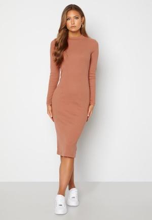 VERO MODA Harriet L/S High Neck Dress Mocha Mousse XL
