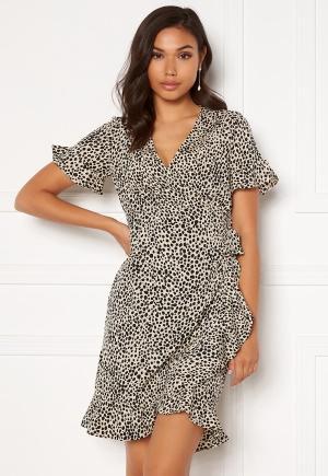 VERO MODA Henna 2/4 Wrap Dress Oatmeal XL