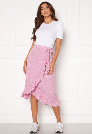VERO MODA Henna Wrap Blk Skirt Smoky Grape/ Dots XS