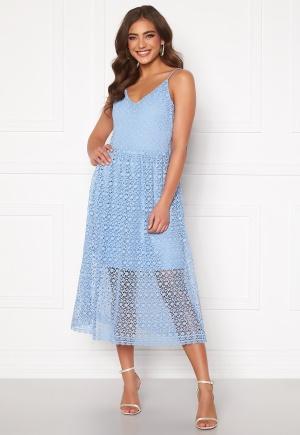 VERO MODA Madeleine Calf Lace Dress Placid Blue M