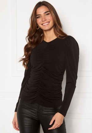 VERO MODA Megane L/S Rouching Top Black L