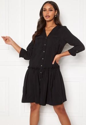 VERO MODA Michalla L/S ABK Button Dress Black S