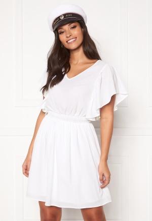 VERO MODA Sasha SS Frill Dress Bright White XS