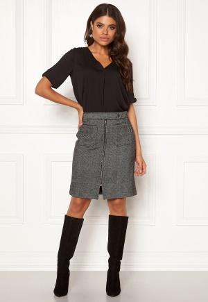 VERO MODA Toya Herringbone Skirt Black/White XL