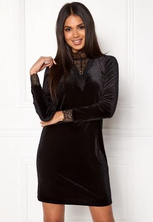 VERO MODA Viola Lace L/S Dress Black XS