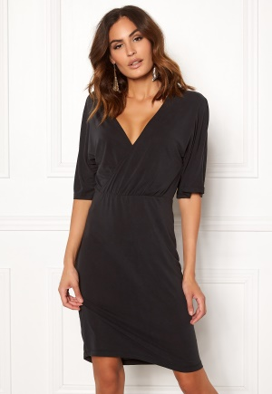 Image of VILA Atetsy 2/4 Sleeve Dress Black XS