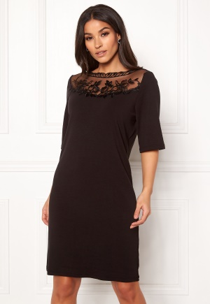 Image of VILA Blondia 3/4 Sleeve Dress Black XS
