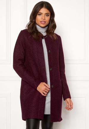 Image of VILA Coffee Wool Coat Winetasting 38