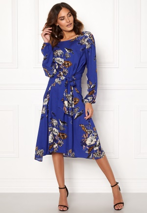 Image of VILA Esto Sano L/S Midi Dress Clementis Blue 34