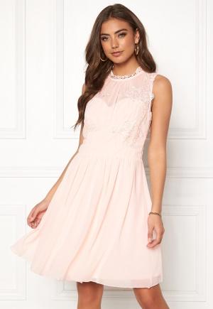 VILA Georgious S/L Dress Silver Peony 38