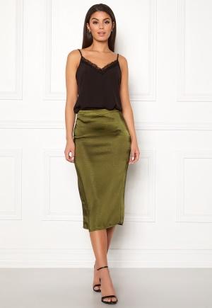VILA Julie Skirt Dark Olive 36