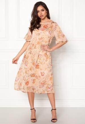 Image of VILA Mouna S/S Medi Dress Peach Blush 34