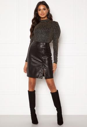 VILA Pen Button Skirt Black 40