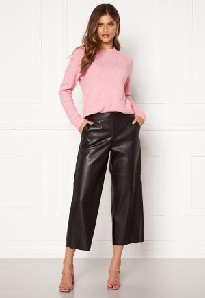 VILA Pen RWRX Cropped Coated Pants Black 42