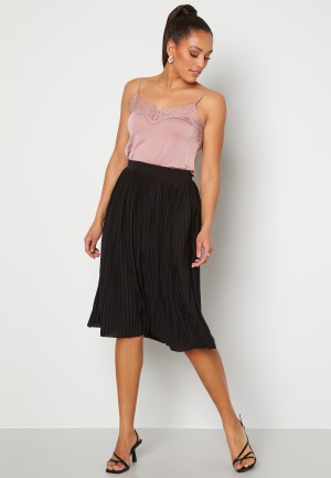 VILA Pliss Midi Skirt Black XS