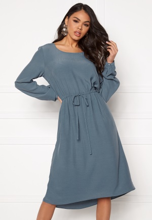 VILA Primera Medi L/S Dress China Blue 36