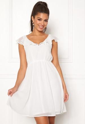 VILA Rannsil S/L Short Dress Cloud Dancer 38