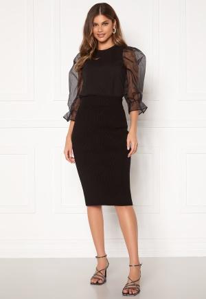 VILA Ril Knit HW Pencil Skirt Black S