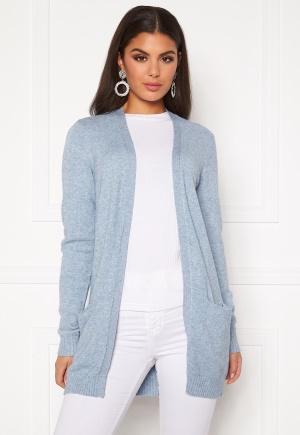 VILA Ril Open Knit Cardigan Ashley Blue XS