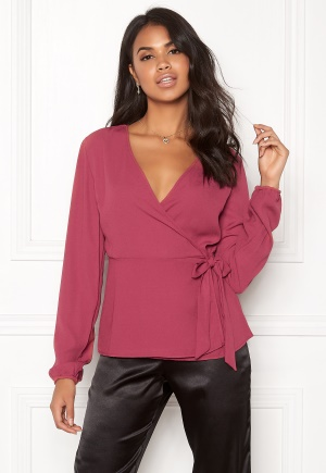 Image of VILA Sarina L/S Cover Up Earth Red 34