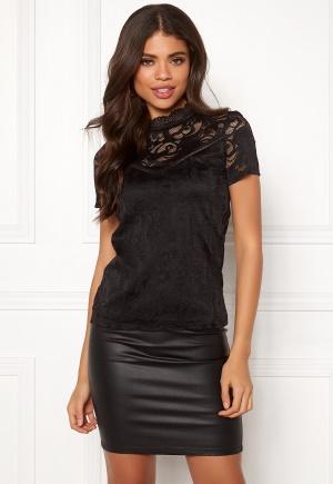 VILA Stasia S/S Lace Top Black XL