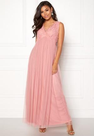 Image of VILA Ulricana S/L Maxi Dress Bridal Rose 40