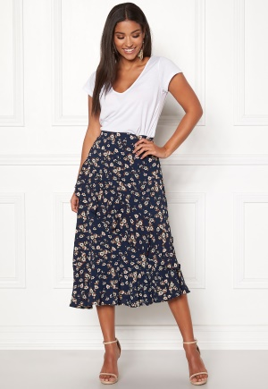 Pieces Viola Midi Skirt Navy Blazer XL