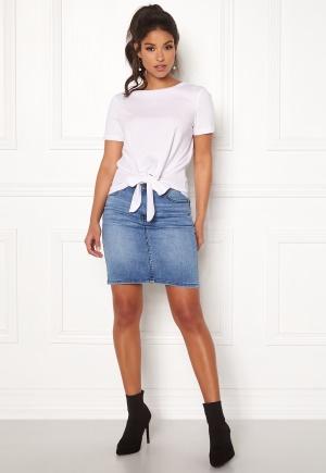 OBJECT Win New Denim Skirt Medium Blue Denim 36