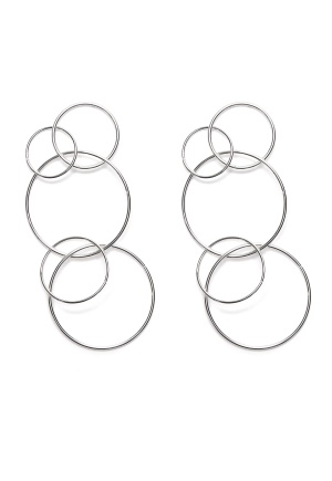 WOS Spinning Around Earring Silver One size