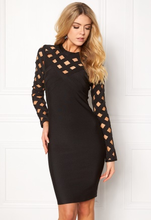 WOW COUTURE Caged Sweatheart Dress Black M