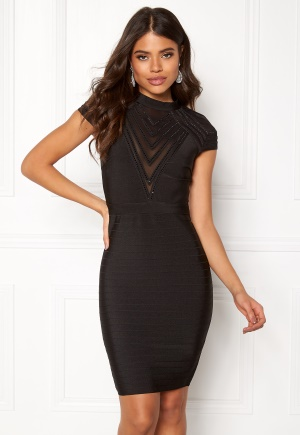 WOW COUTURE Larisa Bandage Dress Black L