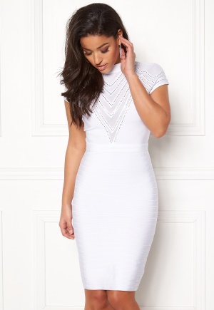 WOW COUTURE Larisa Cap Sleeve Dress White L