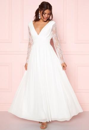 Y.A.S Adela LS Maxi Dress Star White S