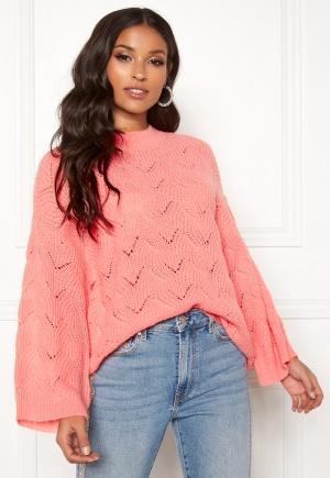 Y.A.S Alma Knit Pullover Quartz Pink L