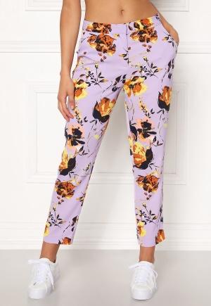 Y.A.S Clara MW Cropped Pant Pastel Lilac XS