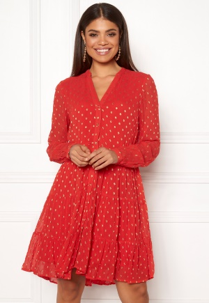 Y.A.S Clio LS Dress Fiery Red S