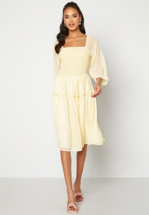 Y.A.S Deanna 3/4 Dress Transparent Yellow L