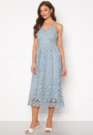 Y.A.S Luie Strap Midi Dress Dusty Blue M