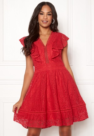 Y.A.S Malma Lace Dress High Risk Red L