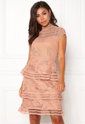 Y.A.S Yrsa Lace Dress Rose Smoke XS