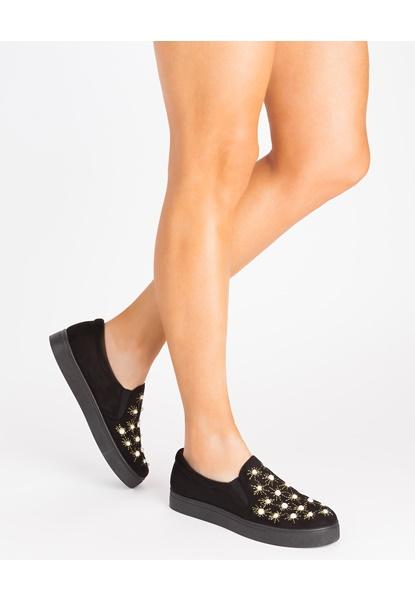 Glossy Sneakers, Curie Svart Bubbleroom.no