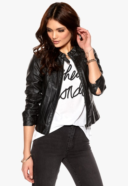ONLY Corrie Pu Jacket Black Bubbleroom.se
