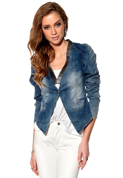 Culture Arden Denim Jacket Blue Wash Bubbleroom.se
