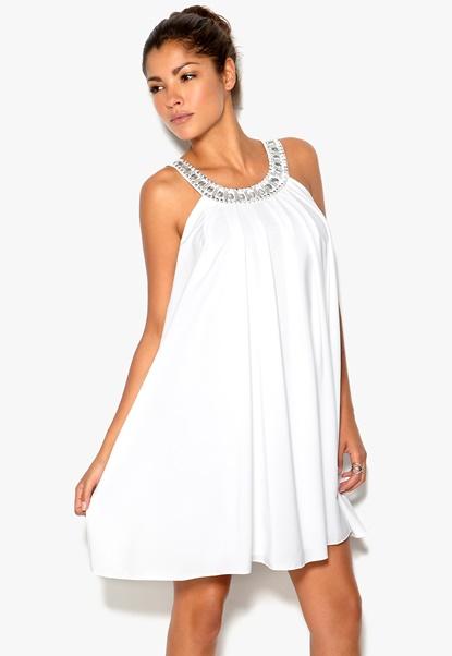 Rich Bitch Gabriella Dress White Bubbleroom.se