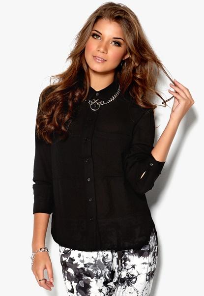 Rut & Circle Hedda Shirt 001 Black Bubbleroom.se