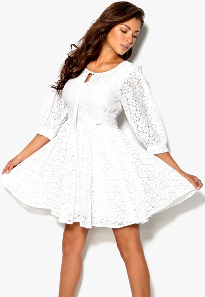 Rich Bitch Flavia Dress White Bubbleroom.se