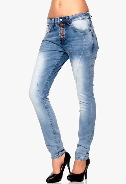 Rut & Circle Button Jeans 686 MD Wash Bubbleroom.se