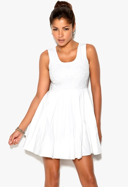 Chiara Forthi Flora Dress White Bubbleroom.se