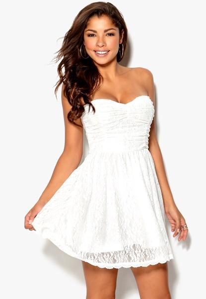 Chiara Forthi Daniella Dress White Bubbleroom.se