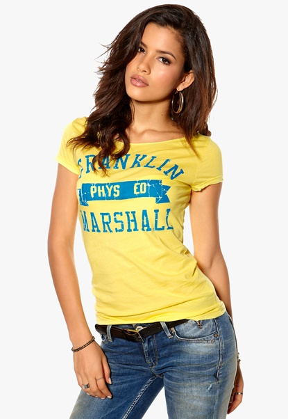 Franklin & Marshall T-shirt Limelight Yellow Bubbleroom.se